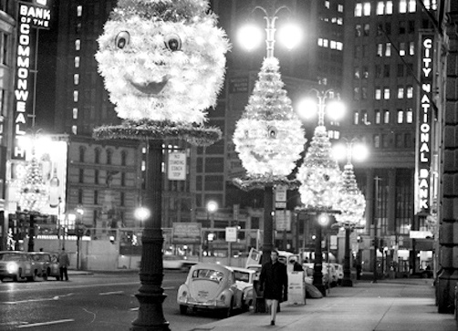 Downtown Detroit 1960s, I loved going downtown Detroit as a kid, it was so lit up for holidays and crowded, now a mere shadow of it's once greatness