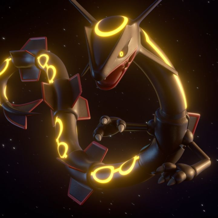 Rayquaza Will Soon Be Available To Encounter In The World Of Pokemon Go If Your Luck Soars Sky High You May Even Pokemon Rayquaza Pokemon Rayquaza Wallpaper