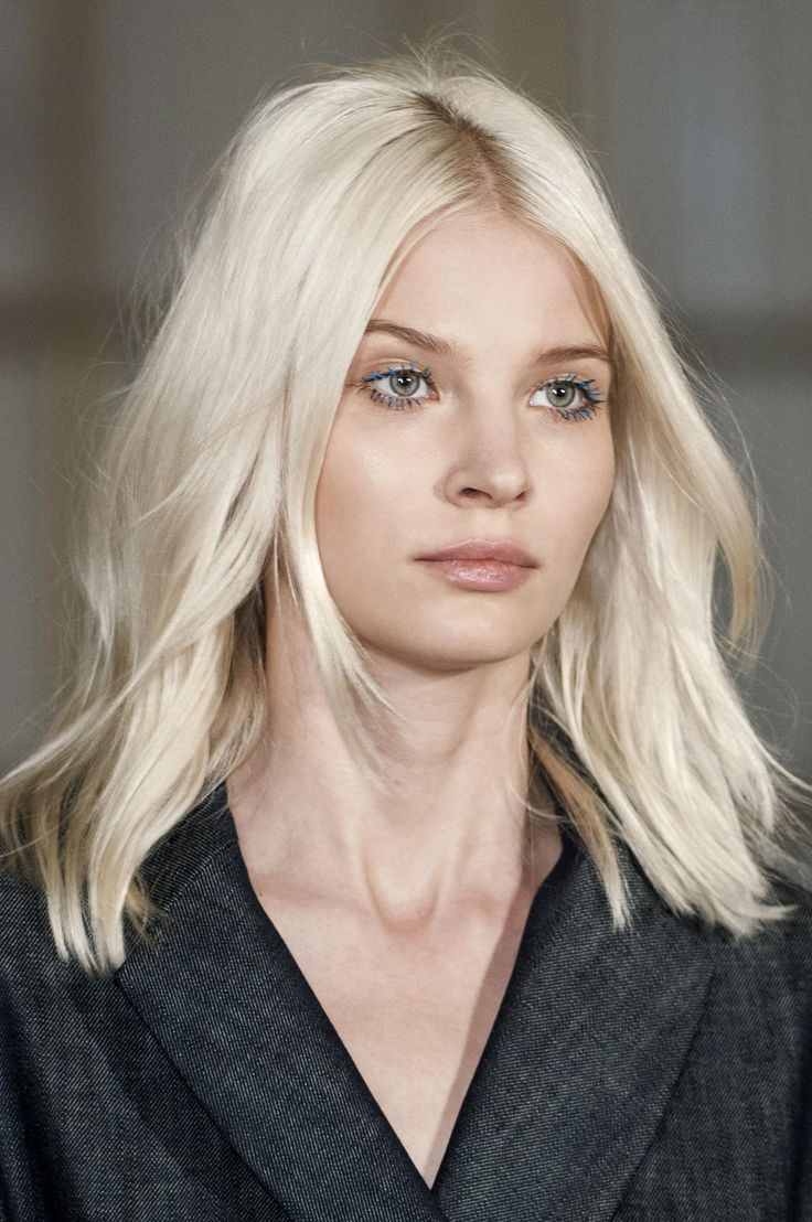 20 Perfect Hairstyles for 2015: All the Inspo You Need - What's a cooler color than this almost-white blond?