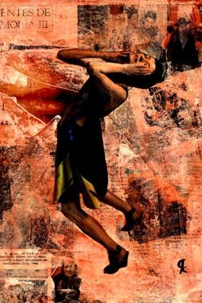 6-MUROS de ARTE (Cris Acqua) Pintura MIxta Collage. 30x21 cm . MUROS de ARTE. ( Mixed Media) He jugado con seda en los muros, con pinturas, con periódicos, con cepillos y pinceles impregnados de cola, con mis recuerdos, con mis fantasias, con mi rabia, con mi alegria, pero siempre , siempre..como amante encaprichada, obsesivamente del ARTE... (Cris Acqua) www.crisacqua.com