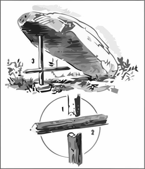 Two-Stick Deadfall Trap