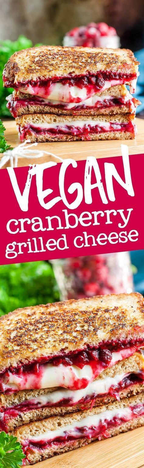 Grab some leftover cranberry sauce and get ready to rock your face with this Vegan Cranberry Pecan Grilled Cheese! Plant-based slices take this easy cheezy sandwich to the next level!