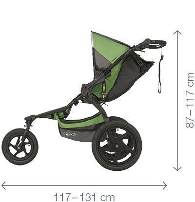 BOB Le REVOLUTION PRO est un poussette. Il protège votre enfant par 'Naissance - 17 kg (6 Mois - 3 ans)', 'Approuvée pour la course à pied et le roller, avec un frein à main à tambour performant' et 'Confort tout-terrain – système de suspensions et pneus anti-crevaison en composite de polymère'.