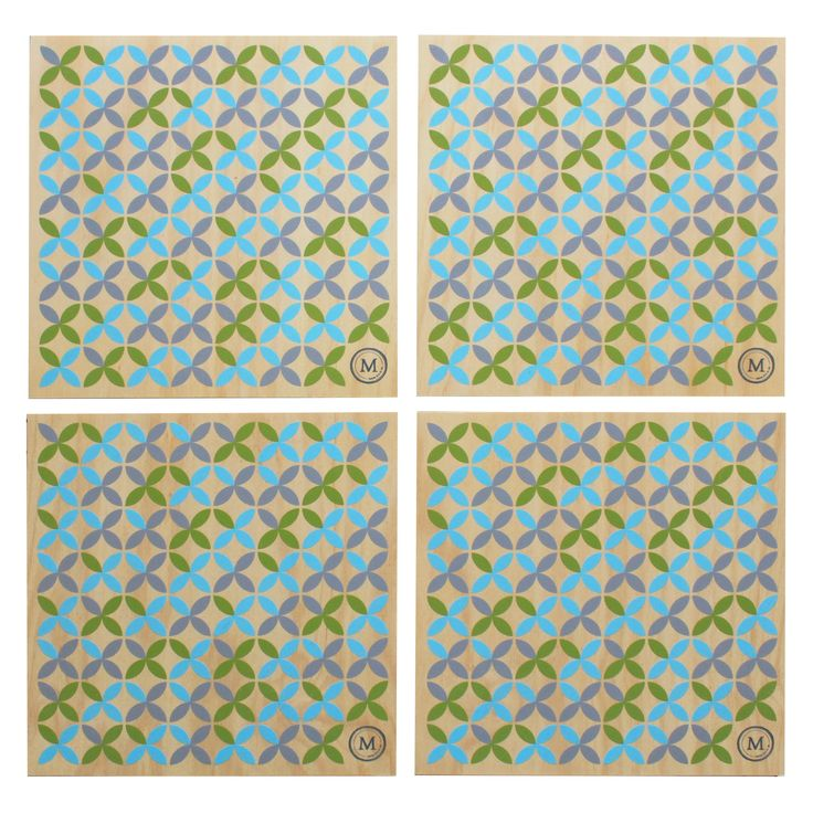 SUMMER TIME - COASTAL REEDS These placemats in this cool and calming coastal colour palette are a great addition to any table setting, be it inside or out, casual or formal! See our website for matching coasters also. Dimensions per Placemat: 300mm (w) x 300mm (h) x 9mm (d) $110 Set of 4 / $185 Set of 8