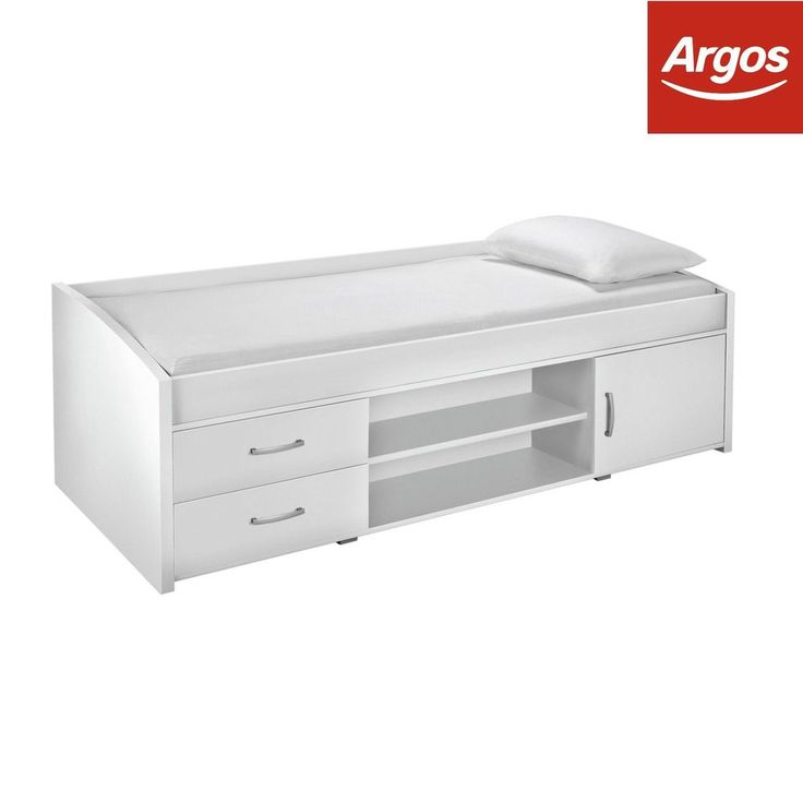 Yanniek Single Wooden Cabin Bed Frame - White - From the Argos Shop on ebay