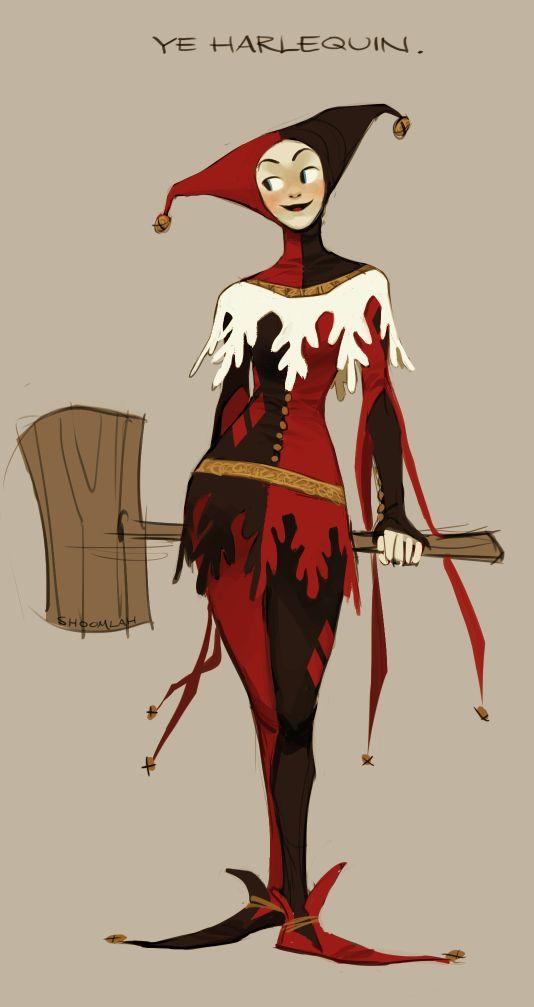 14th Century Harley Quinn by shoomlah.deviantart.com on @deviantART