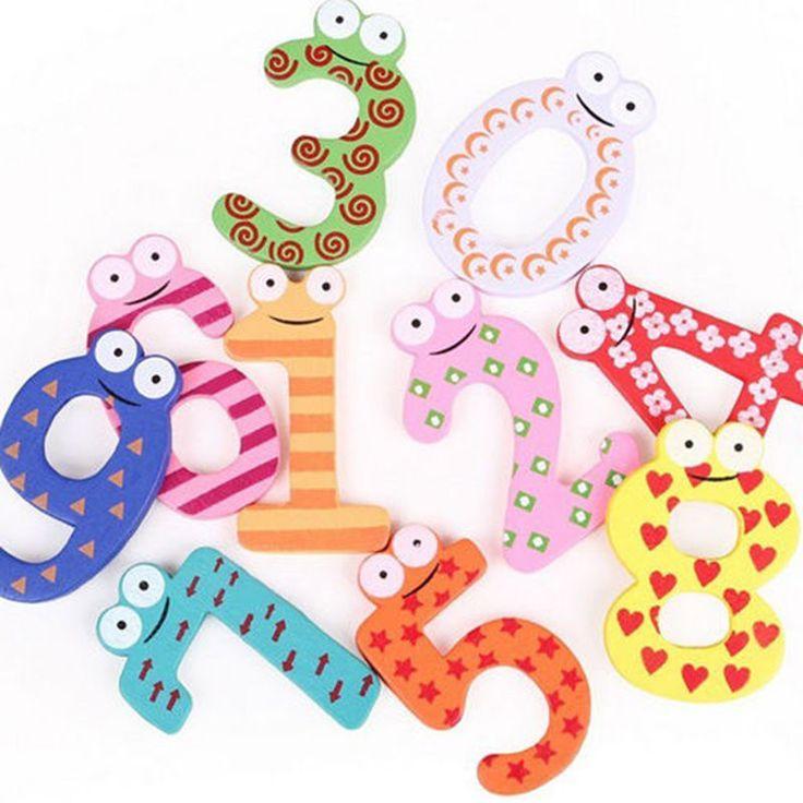 1 set X mas Gift Set 10 Jumlah Kayu Magnet Kulkas Pendidikan Belajar Lucu Kid Bayi Mainan YKS