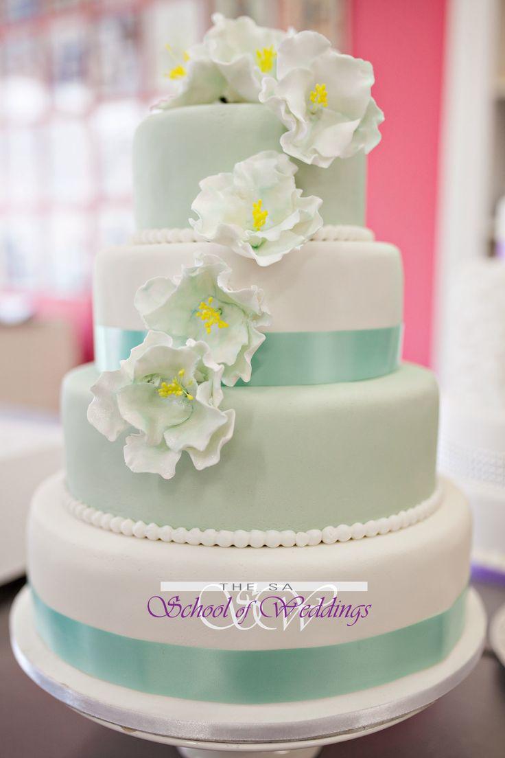 Mint green wedding Cake www.saschoolofweddings.co.za