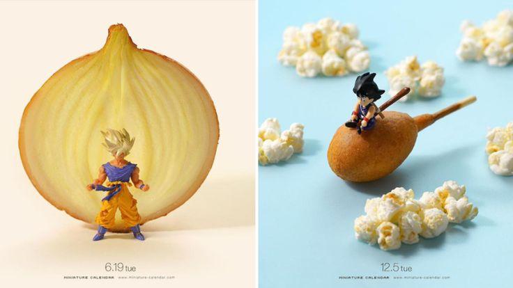 Il détourne des objets du quotidien pour recréer des scènes miniatures de Dragon Ball