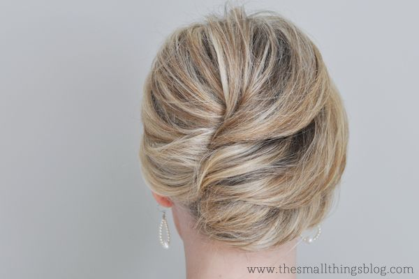 the french twist...gorgeous reversed twist starting at top and working down instead of the reverse. What would this look like curly?