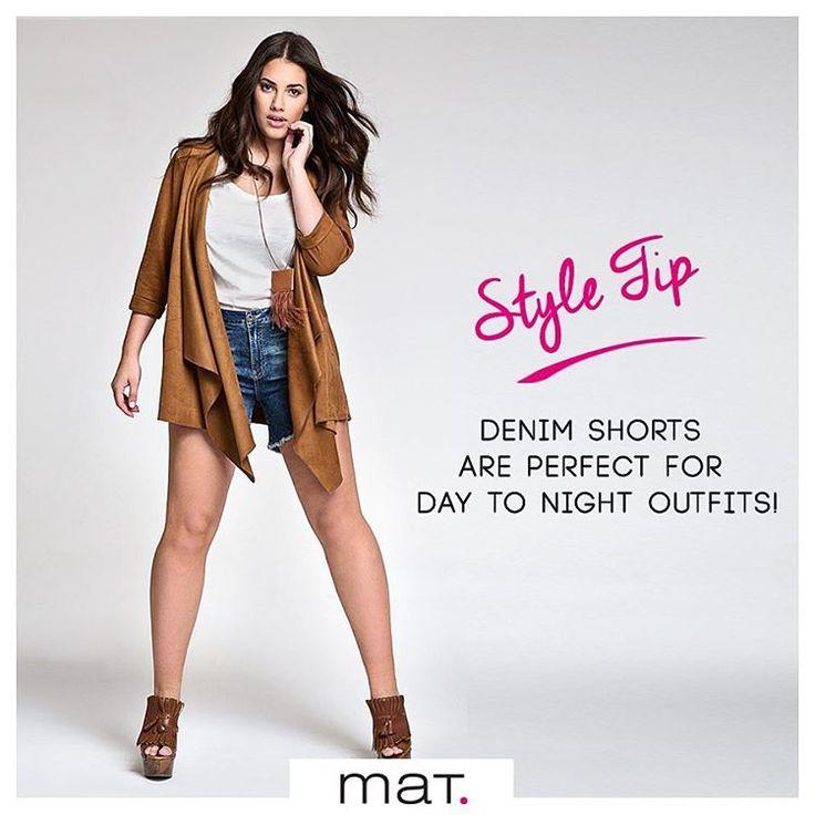 Denim shorts are perfect for day-to-night outfits! • Το #matfashion τζιν σορτς είναι ιδανικό για κάθε στιγμή της μέρας και ταιριάζει σε κάθε στυλ ντυσίματος! Φόρεσε το για μία εμφάνιση ανέμελη το πρωί αλλά και το βράδυ για δείπνο με φίλους! #summer2016 #denim #collection #ootd #trend #fashion #inspiration #whattowear #styletip