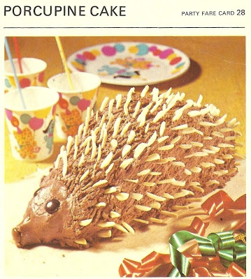 Porcupine Cake (Marguerite Patten's Recipe Cards, 1967)
