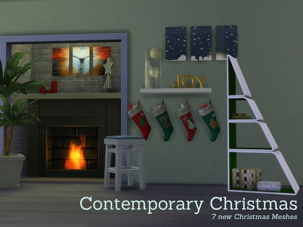 The Sims Resource: Contemporary Christmas Decorations by Angela • Sims 4 Downloads