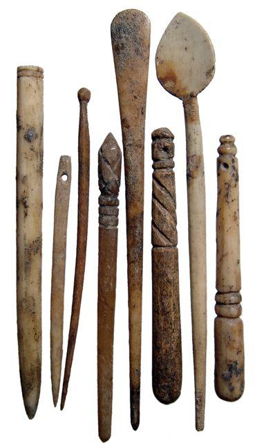 Ancient Viking bone items.                                                                                                                                                                                 More