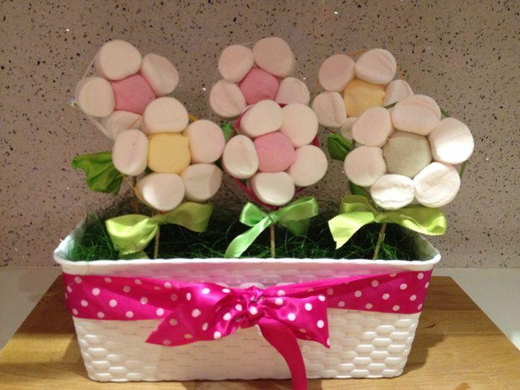 Marshmallow flower - centrotavola