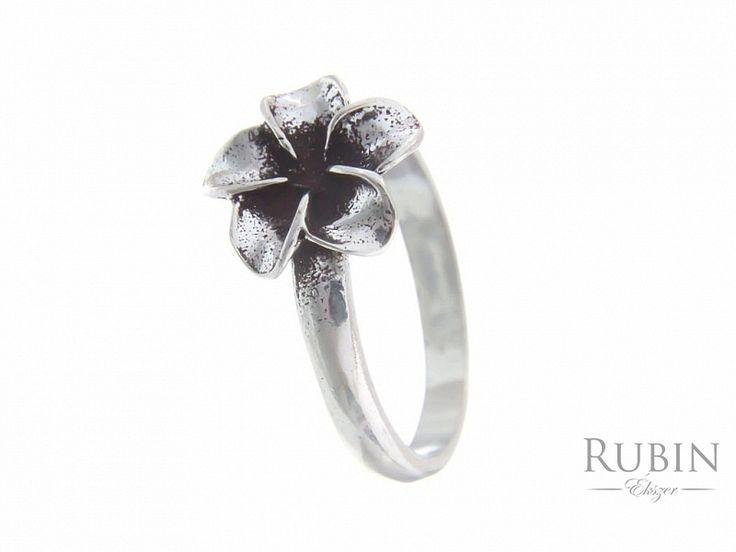Virág motívumos antikolt ezüst gyűrű