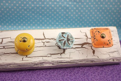 Distressed Knob Jewelry Holder - Happiness is Homemade