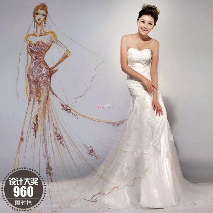 93 best Brautkleider images on Pinterest | Short wedding gowns ...