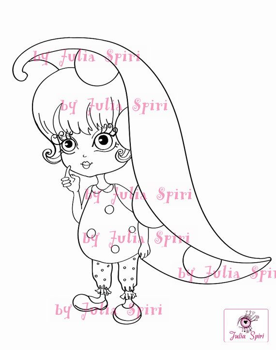 Digital stamp © JuliaSpiri The Garden Dwellers Collection. The Sweet Pea.  You can print these cute digital stamps to create coloring pages for your