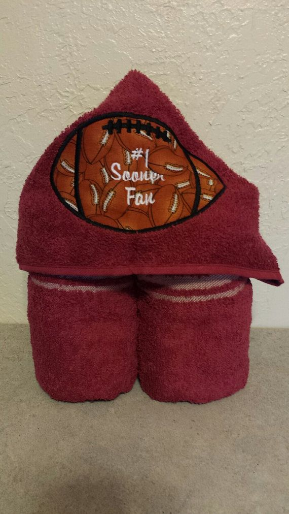 Crimson 1 Oklahoma Sooner Fan Hooded Towel-Other by Cowartkids