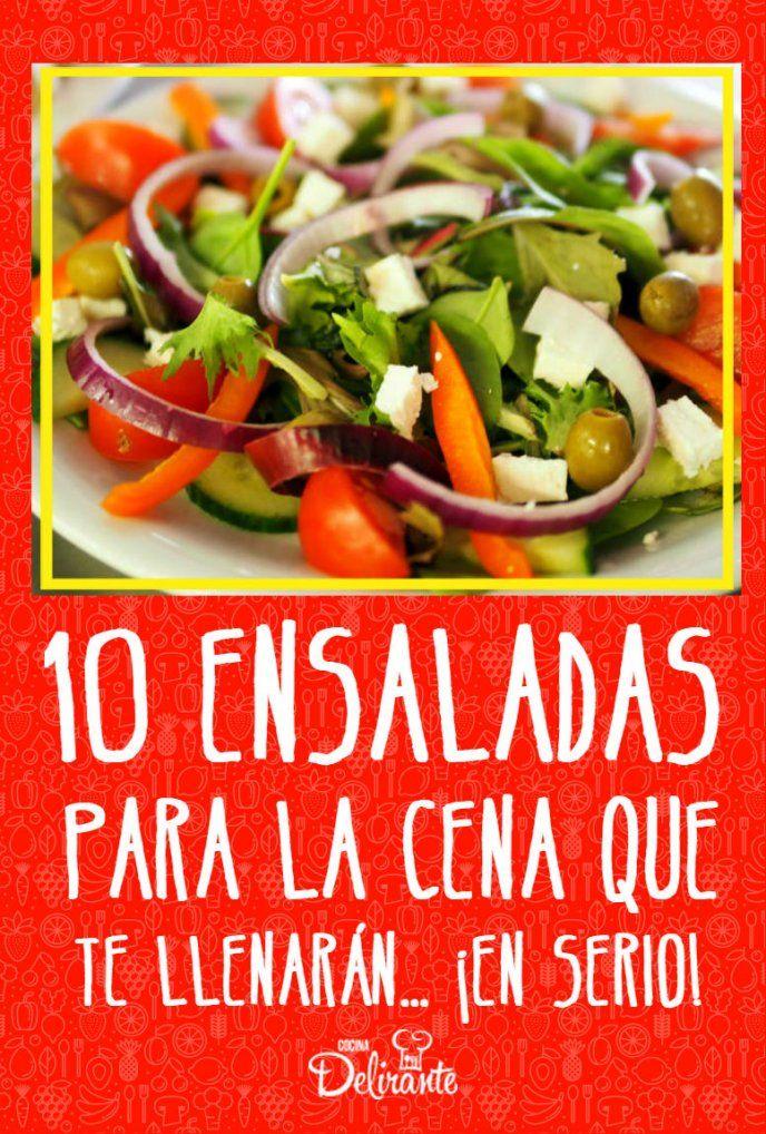 10 Ensaladas Para La Cena Que Te Llenaran En Serio Comida Mediterranea Recetas Comida Saludable Ensaladas Comidas Saludables Baratas
