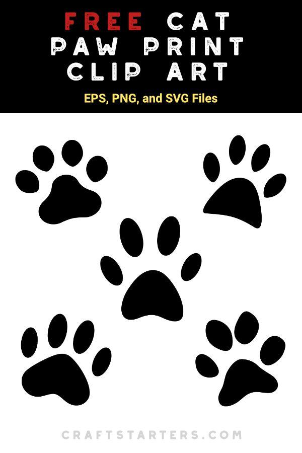Free Cat Paw Print Silhouette Clip Art Cat Paw Print Paw Print Clip Art Cat Paws