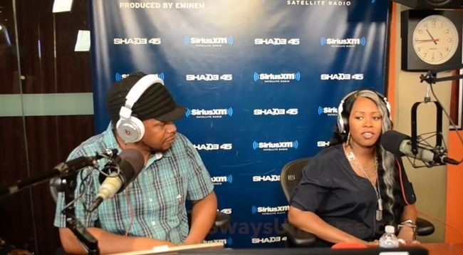 """Remy Ma Freestyles On Sway In The Morning Show- http://getmybuzzup.com/wp-content/uploads/2014/08/Remy-Ma-Talks-Motherhood-on-Sway-in-the-Morning.jpg- http://getmybuzzup.com/remy-ma-freestyles-on-sway/- By C. Vernon Coleman Remy Ma might still be learning how to take selfies, but when it comes to rhyming, it's like riding a bike.  The former Terror Squad terror has shown her skills haven't diminished while on lock down with the new tracks, """"They Don't Love"""