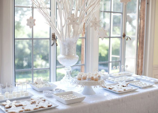 This could be Christmas or an elegant winter tea party.