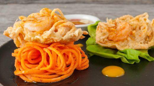 Shrimp and Sweet Potato Fritters