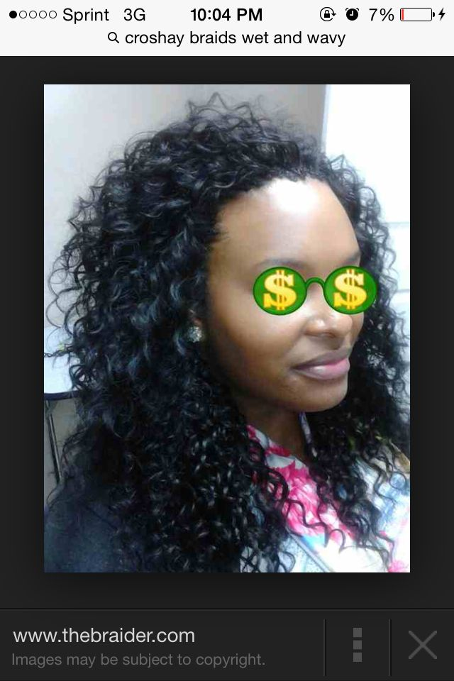 Crochet Braids With Wet And Wavy Hair