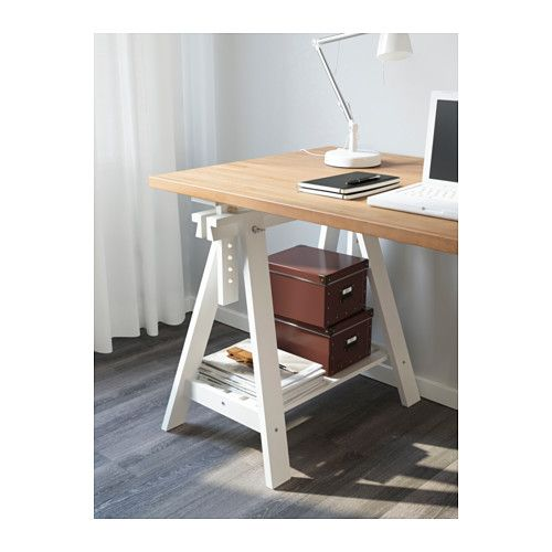 GERTON / FINNVARD Table - beech/white - IKEA