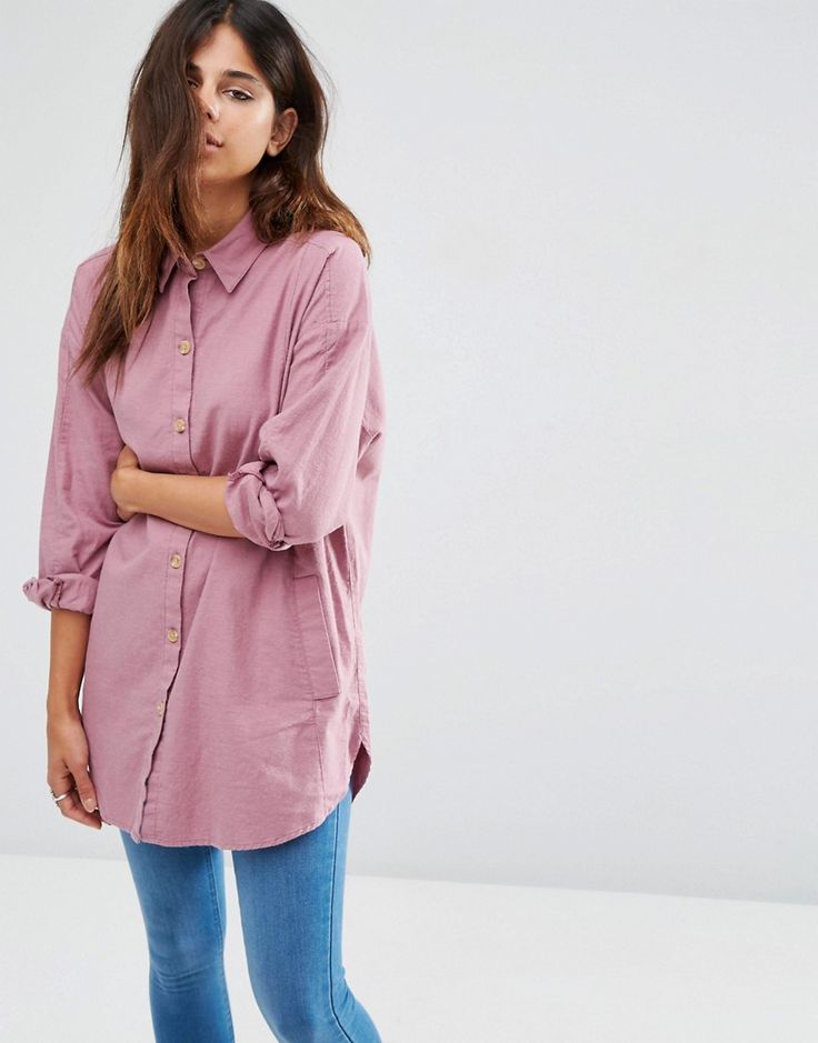 Image 1 of ASOS Soft Twill Oversized Shirt