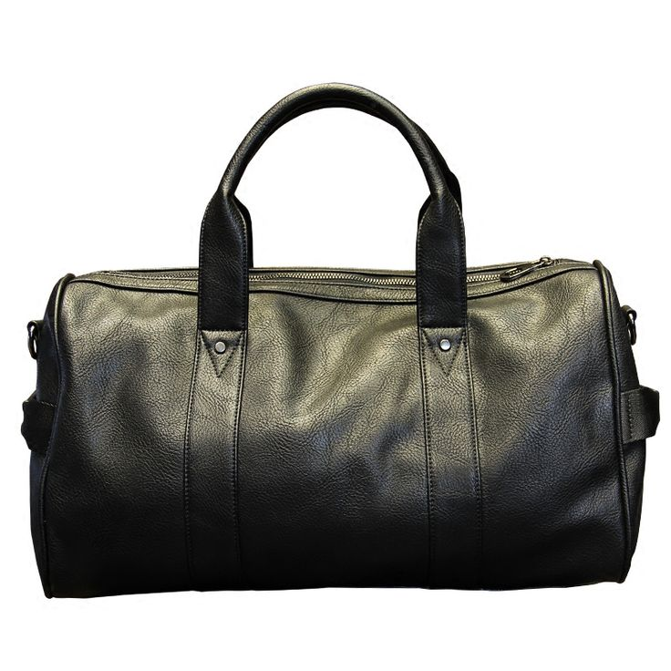 <b>Xiao</b>.<b>P Brand High</b> Quality PU Leather Men's Travel Bags Black ...