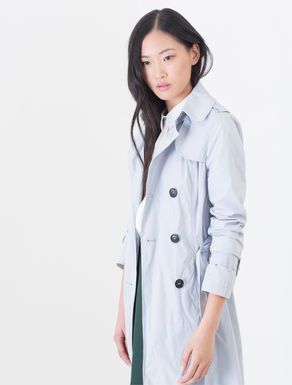 Technical taffeta trench coat