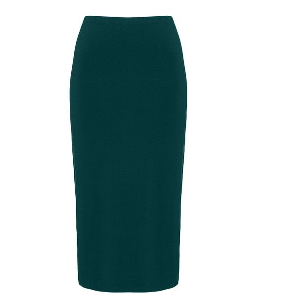 Peter Luft Petrol Plus Size Midi jersey skirt (£39) ❤ liked on Polyvore featuring skirts, petrol, plus size, plus size midi skirt, plus size jerseys, plus size skirts, womens plus size skirts and blue skirt