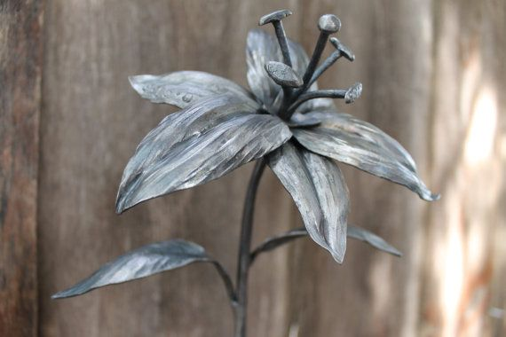 Personalized Iron Flower  Lilly  Star gazer  by toughandtwisted, $110.00