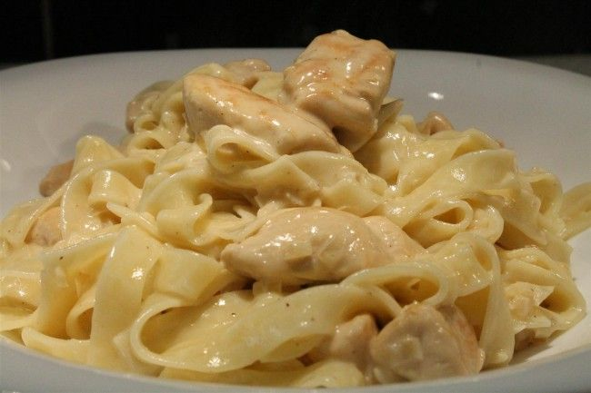 Chicken alfredo - csirkemell recept
