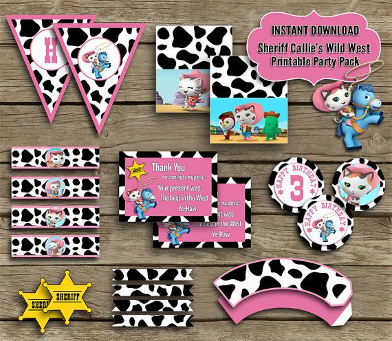 Sheriff Callie's Wild West Party Party by MMPartyPrintables, $14.50