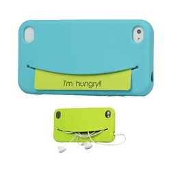 "Smile! MiniSuit's new silicone case for the Apple iPhone 4 and 4S features smiley faces that exclaim adorable! As the title implies, this innovative case is not only a protective cover, but is also a pocket disguised as a hungry ""Feed Me"" smiley fac"