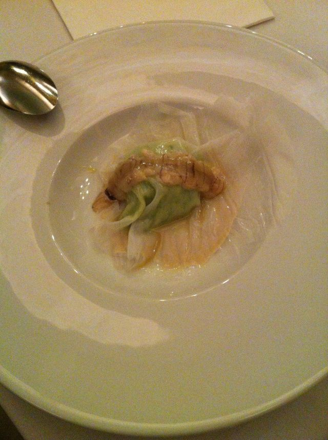 Calamar ravioli. Discover Italian gastronomy with star chef every month at Institut Culturel Italien