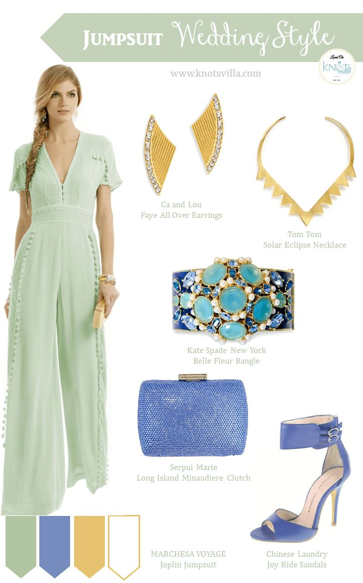 Jumpsuit Wedding Style - Mint Blue