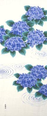 町家手拭 水紋に紫陽花|永楽屋 ONLINE SHOP
