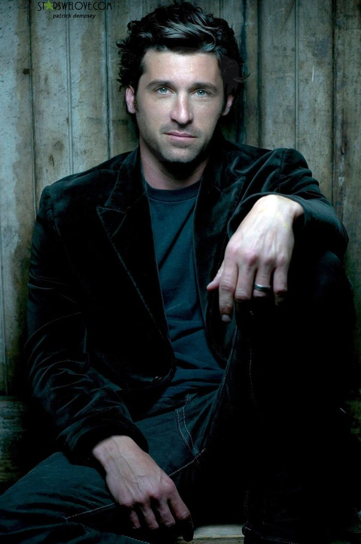 patrick dempsey omg i love him!!! He has amazing hair and cant wait for Greys Anatomy to come back on!!!