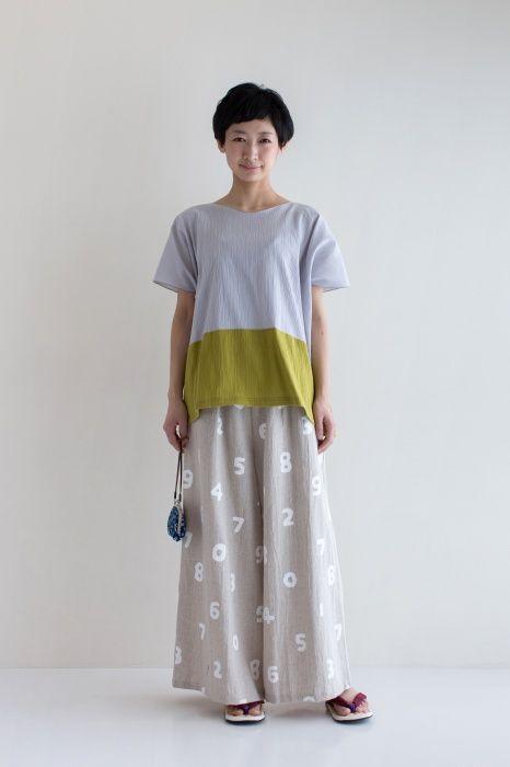 麻 広形もんぺ(ひろなりもんぺ)/SO-SU-U 大 - SOU・SOU netshop (ソウソウ) - 『新しい日本文化の創造』