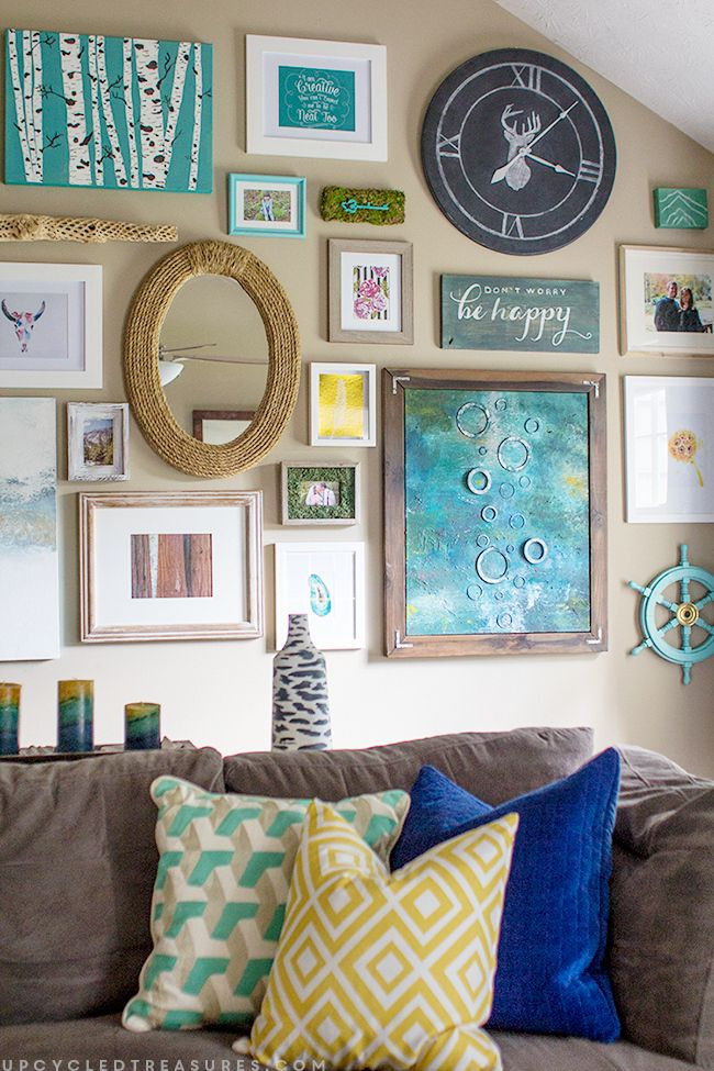home office repin image sofa wall. Beautiful Eclectic Gallery Wall And Tutorial To Create A Handpainted Sign. Home Office Repin Image Sofa