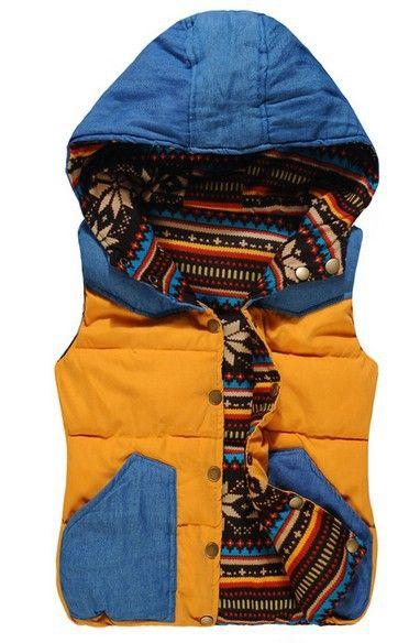 M,L,XL 5 color 2015 autumn winter with a hood reversible down cotton new fashion vest women hoodie tank top down coat  free ship