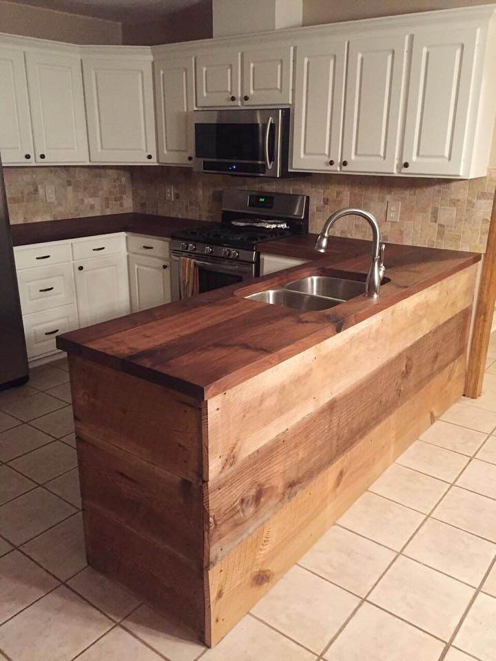 Happy We Could Complete This Black Walnut Countertop For One Of Our  Talented Clients Who Built This Custom Island With Reclaimed Wood From  Storied Salvage.