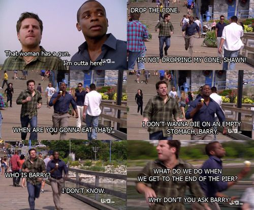 Hahaha!!!! This episode is one of the best :) Psych Season Five Episode One Maybe Two Ways Out