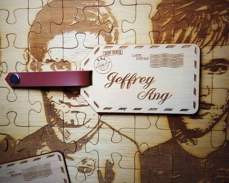 Personalised luggage tag for @jeffry.ang . . Follow @timberlou_laserartworks for more info and products. . #laserengraved #laserartworks #lasercut #lasercutindonesia #jakarta #plywood #weddingfavor #weddinggift #tblou http://gelinshop.com/ipost/1514939619114748441/?code=BUGJY6dgAoZ