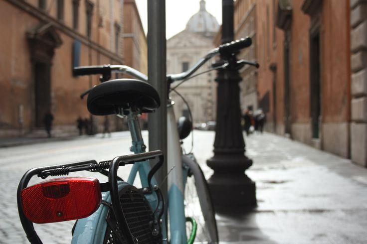 #Bike in Corso del Rinascimento #Rome #bicycle